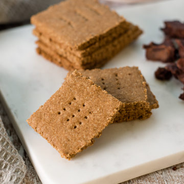 healthy graham crackers, vegan, gluten-free, naturally sweetened
